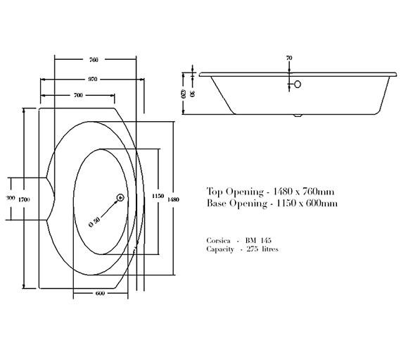 Technical drawing QS-V29946 / BH021S1C