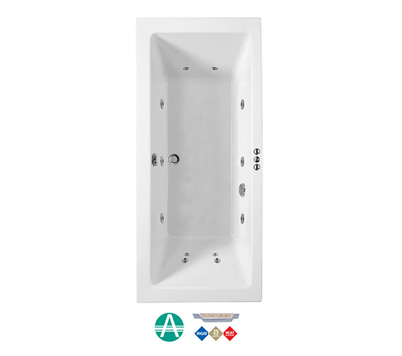 Phoenix Amanzonite Rectangularo 5 Whirlpool Bath 1800x800mm