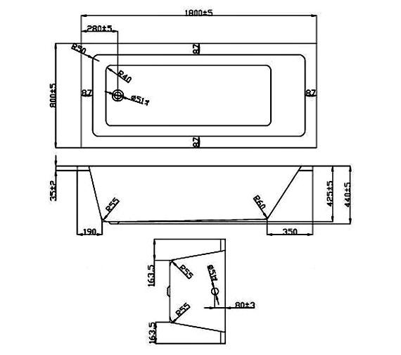 Technical drawing QS-V37679 / BH052S2
