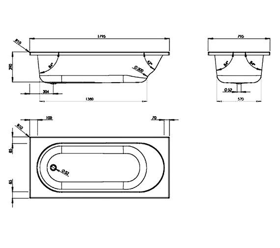 Technical drawing QS-V37689 / VERBT117