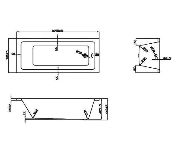 Technical drawing QS-V37700 / BH043S1