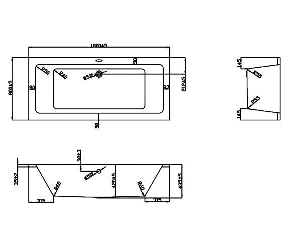 Technical drawing QS-V37704 / BH045S1