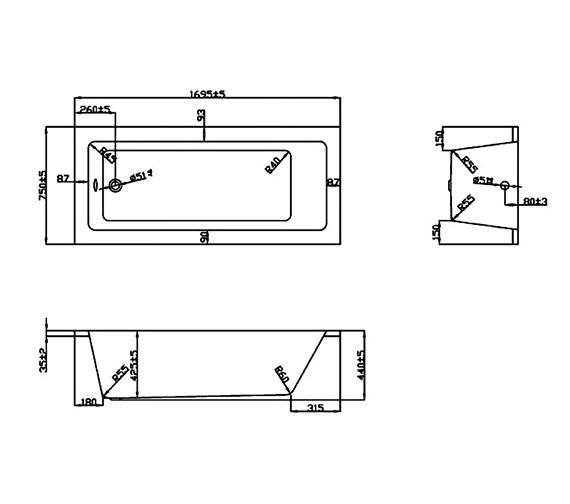 Technical drawing QS-V37708 / BH041S1