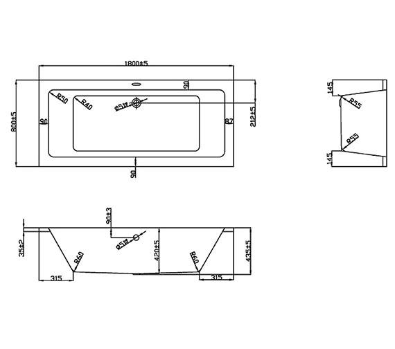 Technical drawing QS-V37710 / BH042S1