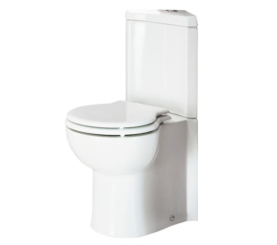 RAK Evolution Close Coupled Corner WC With Soft-Close Seat 673mm