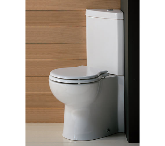 Small bathrooms with corner shower - Rak Evolution Corner Cloakroom Suite