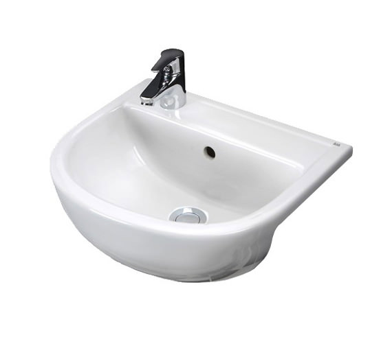 RAK Compact 1 Tap Hole Slimline Semi Recessed Basin 400mm Left Hand