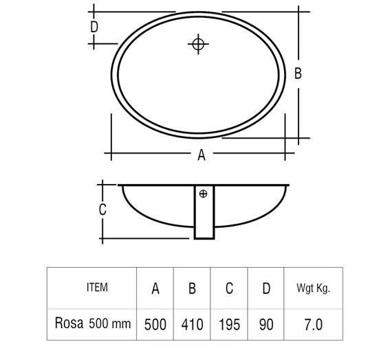 Technical drawing QS-V37738 / ROSAVB50