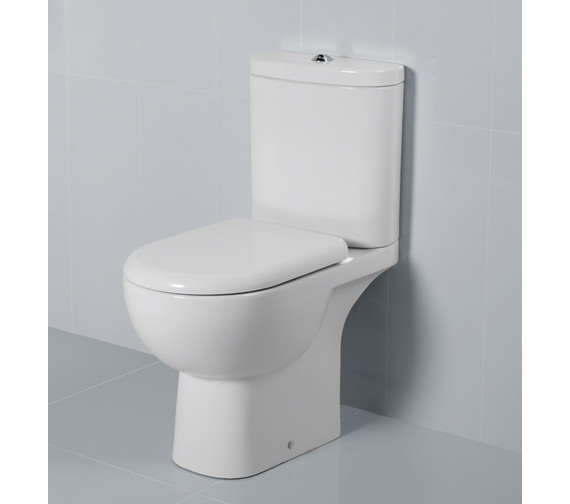 RAK Tonique Close Coupled WC With Soft Close Toilet Seat 625mm