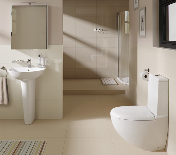 Alternate image of RAK Reserva 1 Tap Hole Basin With Full Pedestal 550mm - RES55BAS1