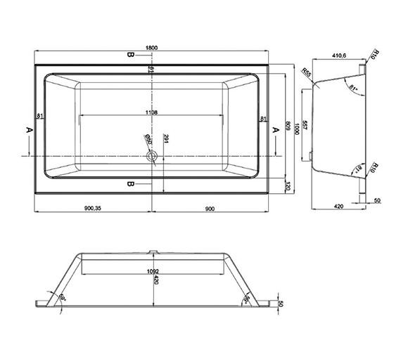 Technical drawing QS-V37747 / BH056