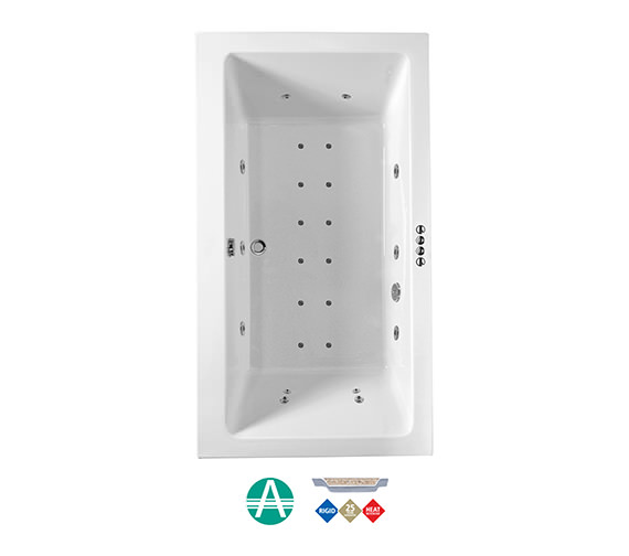 Phoenix Amanzonite Rectangularo 7 Whirlpool And Airpool Bath