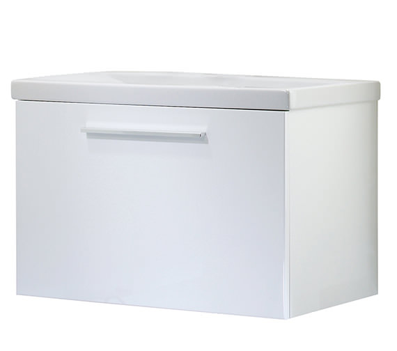 Roper Rhodes Envy 700mm White Wall Mounted Unit Including Basin