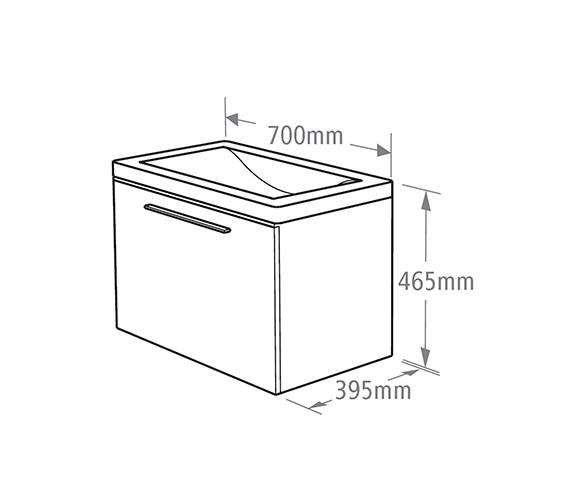 Technical drawing QS-V37767 / EN700W