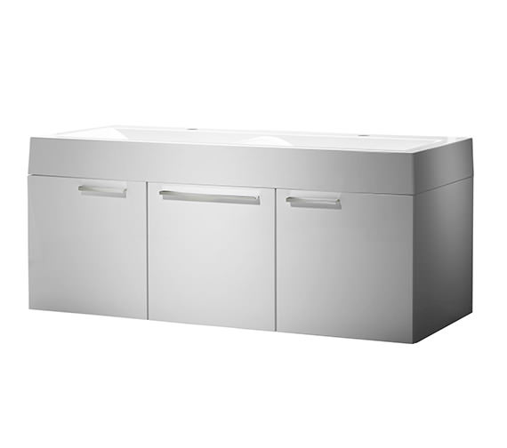 Roper Rhodes Envy 1200mm Double Wall Mounted Unit White And Basin