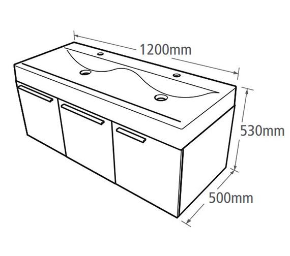 Technical drawing QS-V37769 / EN1200W