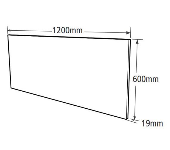 Technical drawing QS-V37770 / M1200DM