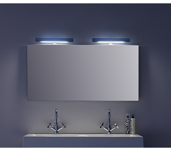 roper rhodes envy mirror with 2 heated pads 1200mm m1200dm