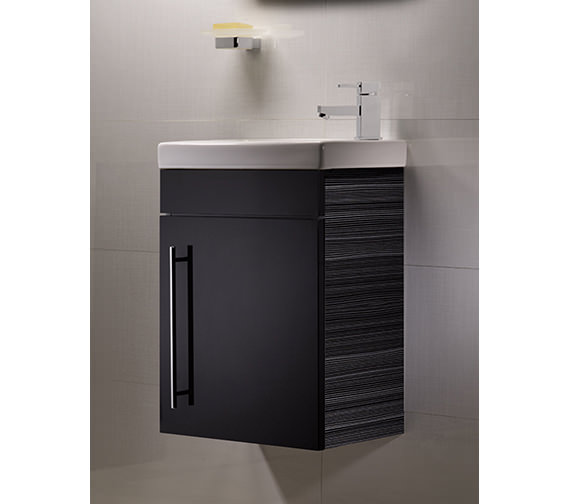 Roper Rhodes Esta 460mm Anthracite Wall Mounted Vanity Unit And Basin