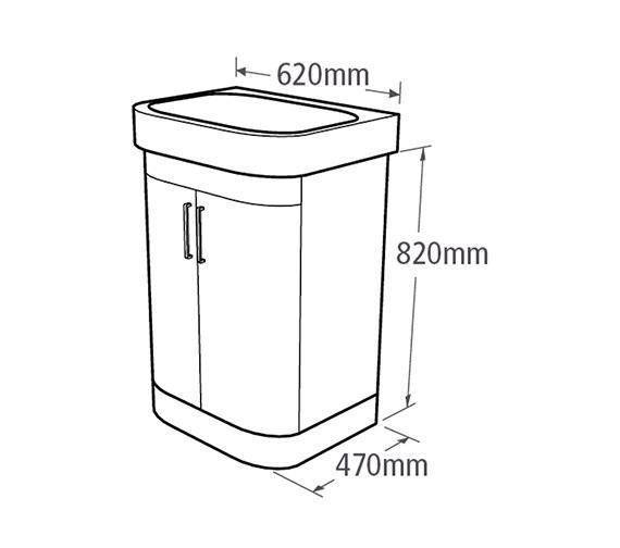 Technical drawing QS-V37784 / LUF620W