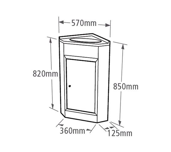 Technical drawing QS-V37799 / VBC600W