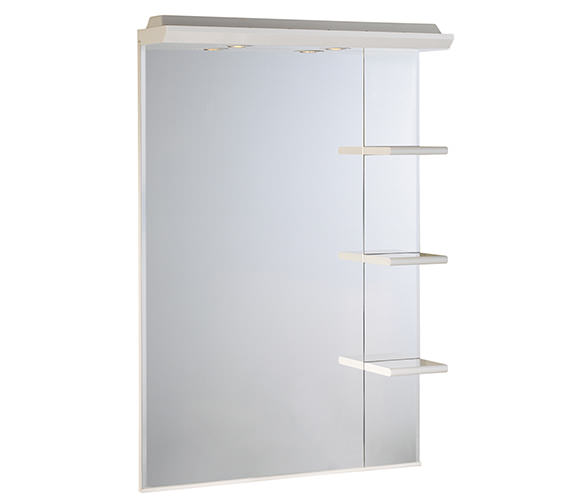 Roper Rhodes Valencia 700mm Mirror With Shelves And Canopy