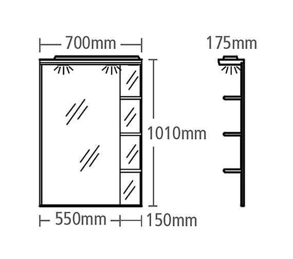 Technical drawing QS-V37815 / SC700W