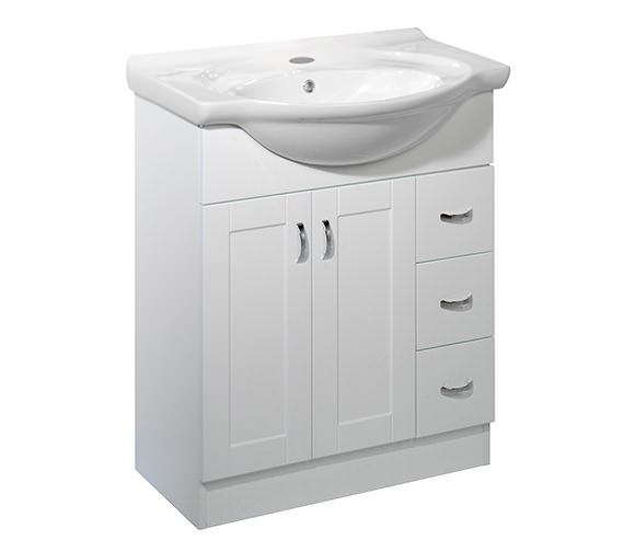 Roper Rhodes New England 700mm White Vanity Unit Excluding Basin