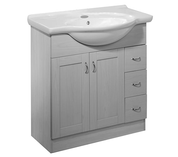 Roper Rhodes New England 800mm White Freestanding Unit Excludes Basin