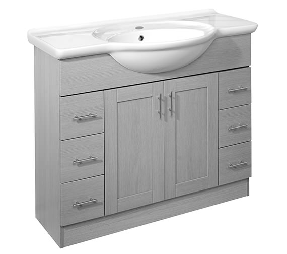 Roper Rhodes New England 1000mm White Freestanding Unit Excluding Basin