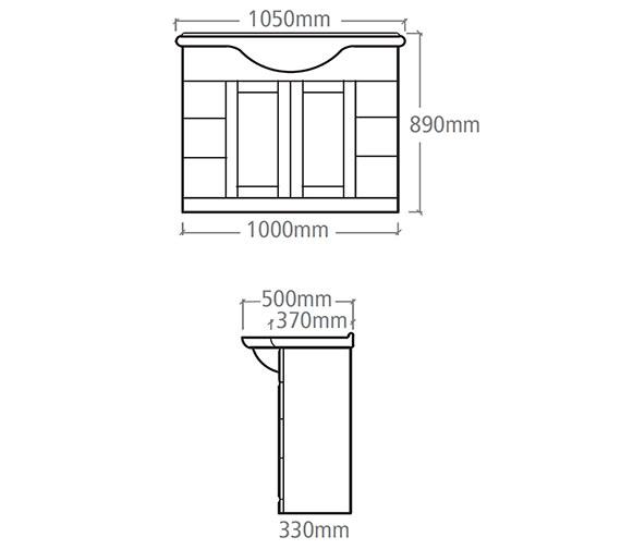 Technical drawing QS-V37848 / NVB10W