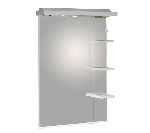 Roper Rhodes New England White 700mm Mirror With Canopy And Shelves