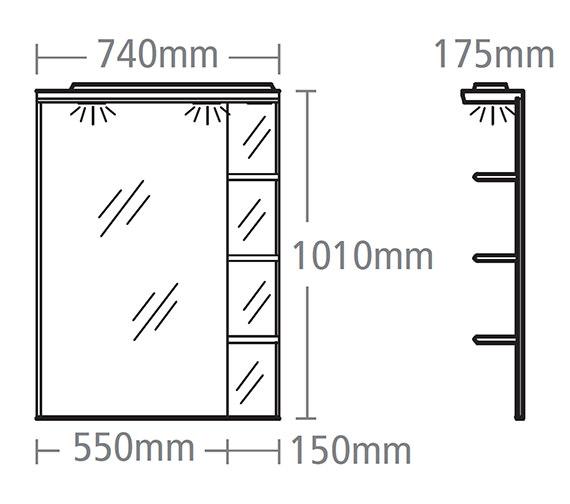 Technical drawing QS-V37854 / NSC7W