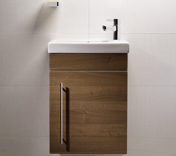 Roper Rhodes Esta 460mm Walnut Wall Mounted Vanity Unit And Basin