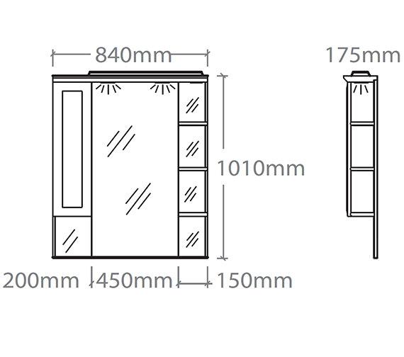 Technical drawing QS-V37856 / NCSC8W