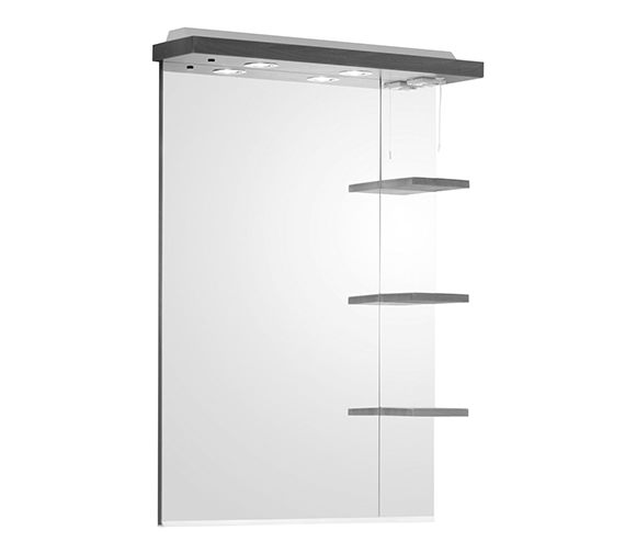 Roper Rhodes Ella 700mm Mirror With Shelves And Canopy White