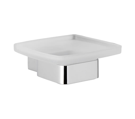 Roper Rhodes Horizon Frosted Glass Soap Dish And Holder - 7814.02
