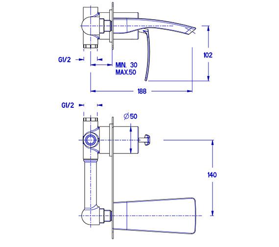 Technical drawing QS-V38005 / ES121WNC
