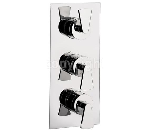 Crosswater Essence Thermostatic Shower Valve 3 Control Portrait