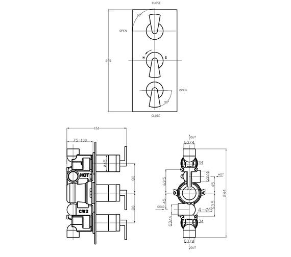 Technical drawing QS-V38007 / ES2000RC