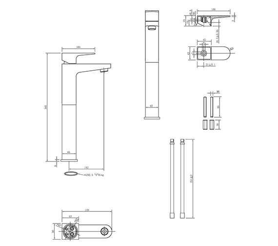 Technical drawing QS-V38013 / MO112DNC
