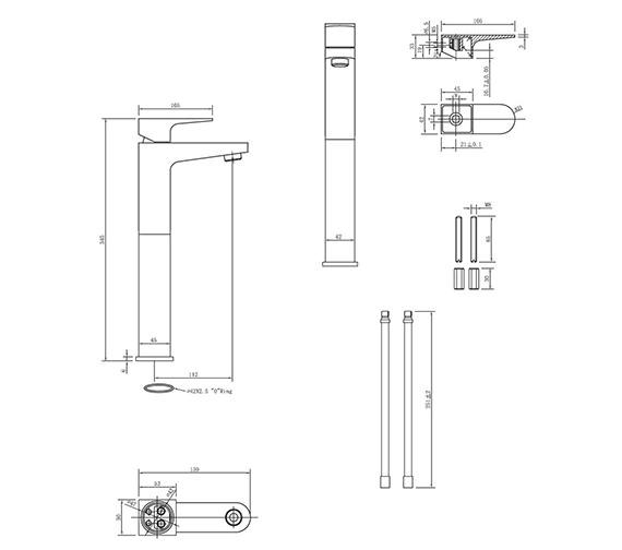 Technical drawing QS-V38013 / MO112DNC
