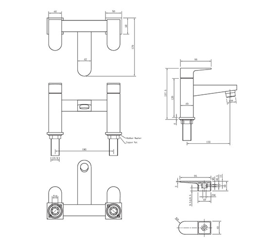 Technical drawing QS-V38019 / MO322DC