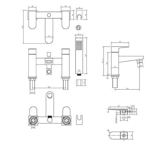 Technical drawing QS-V38020 / MO422DC