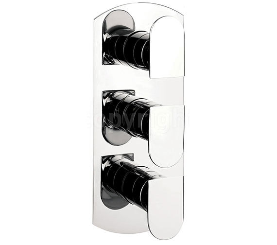 Crosswater Modest Thermostatic Shower Valve 3 Control Portrait