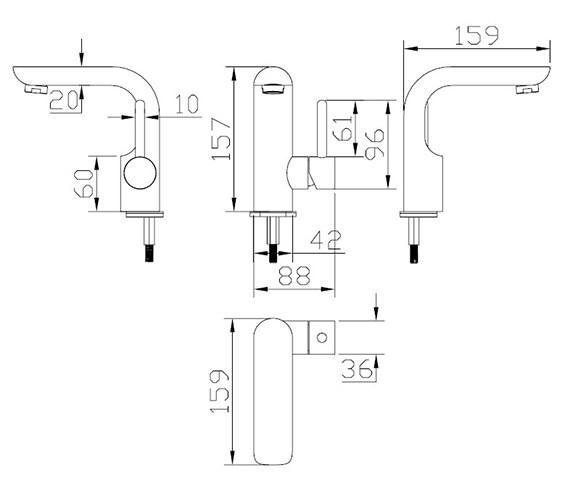 Technical drawing QS-V38031 / EL110DNC