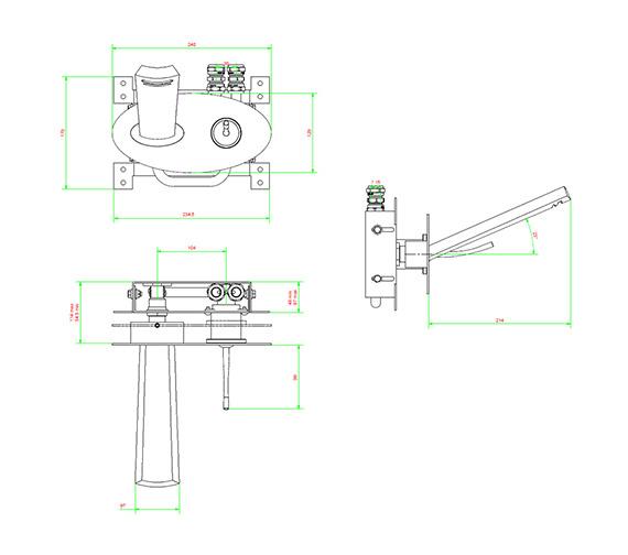 Technical drawing QS-V38043 / GL121WNC