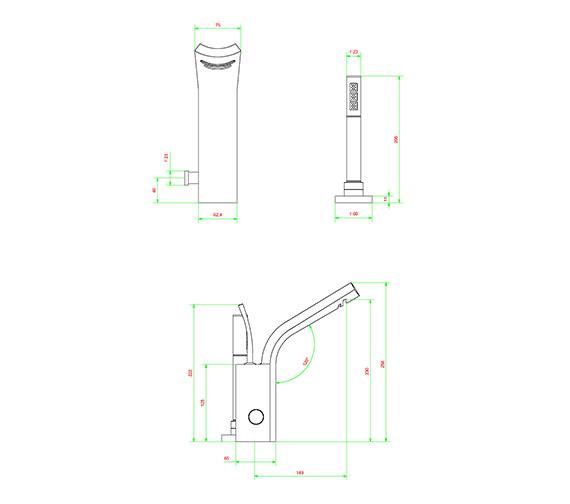 Technical drawing QS-V38046 / GL410DC
