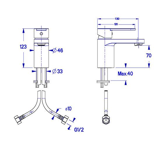 Technical drawing QS-V38058 / CE110DNC