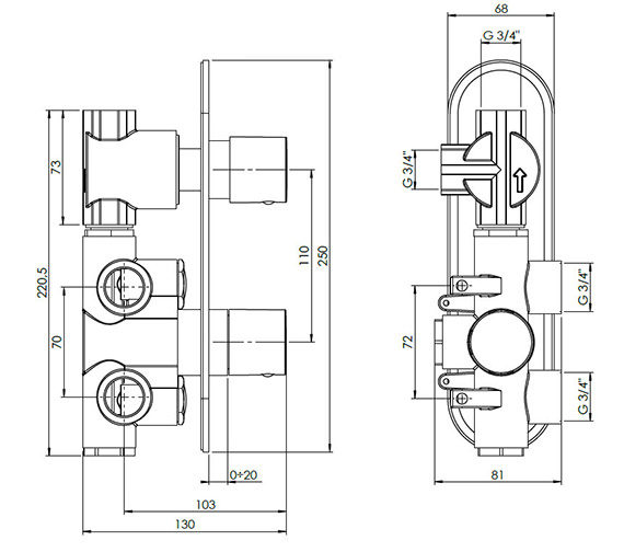 Technical drawing QS-V38067 / CE1500RC+